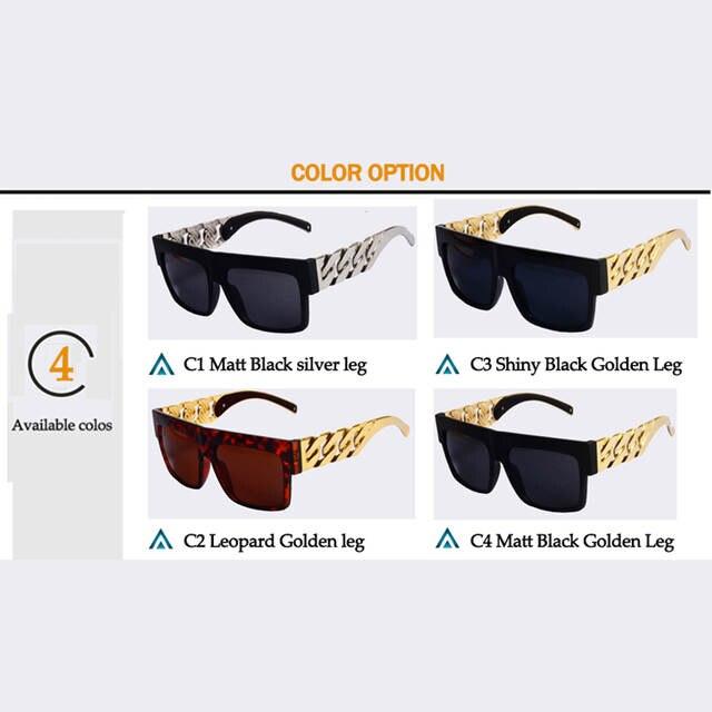 953d0bd7742 SUNLOVER Sunglasses Beyonce Celebrities Metal Gold Chain Sun glasses  Oversized Brand Designer Women Shades