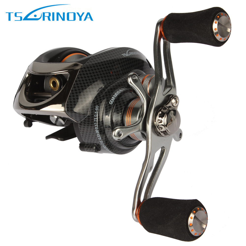 Trulinoya New CNC Machined Aluminum Metal Bait Casting Reels Magnetic Centrifugal Dual Brake 6.3:1 Long Cast Lure Fishing Reel