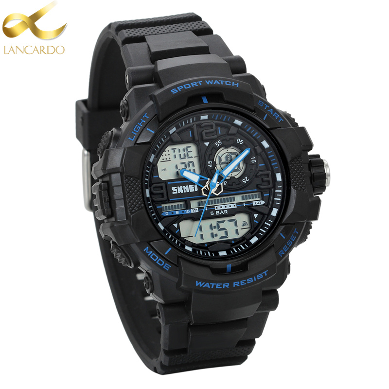 Lancardo Fashion Watches Men New G Style 50m Waterproof Sports Military Watches Men s Luxury Analog