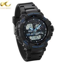 Lancardo Fashion Watches Men New G Style 50m Waterproof Sports Military Watches Men's Luxury Analog Quartz Dual Display Watch