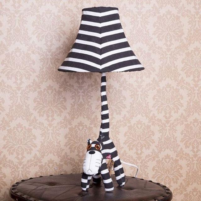 Animé Chevets Dessin Enfant Lampe Table Lumière Tissu Chambre Mignon Bureau Lampes Animal Bébé Enfants De wPXTkuOZi