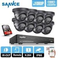 SANNCE 8CH HD 1080P CCTV System 8pcs 3000TVL 2 0MP IR Outdoor CCTV Security Cameras 1080P