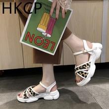 HKCP Fashion Summer sandals for lady sea sponge cake Roman student versatile sports platform holiday beach shoes C160