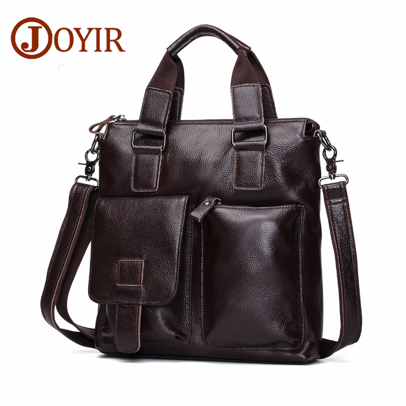 JOYIR Genuine Leather Men Bag Briefcase Vintage Crossbody Shoulder Bags Men's Messenger Bags Leather Laptop Bag Male Handbag vintage men bag genuine leather handbag men briefcase laptop bag classic male shoulder bags