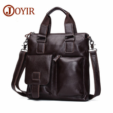 JOYIR Genuine Leather Men Bag Briefcase Vintage Crossbody Shoulder Bags Men's Messenger Bags Leather Laptop Bag Male Handbag