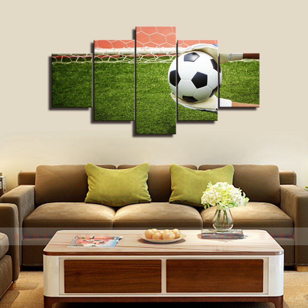 Goalkeeper Grabbed The Football Picture Art Prints On Canvas Painting for Living Room Wall Soccer Poster Boys Bedroom Gifts