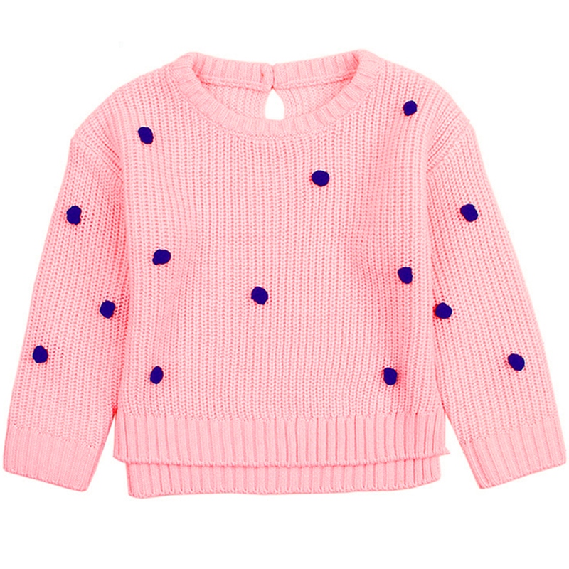 Girls Sweater Spot Baby Girl Clothing Dot Sweater Long Sleeve Kids Toddler Chidren Knitwear Baby Girls Costumes