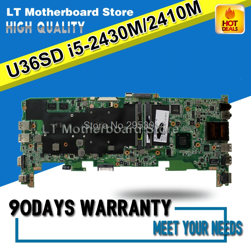 for ASUS U36SD U44S U44SG motherboard with I5 CPU U36SG U44SG laptop motherboards REV 2.1 GT610 1G 100% Tested Motherboard for asus x75vd x75v x75vc x75vb x75vd x75vd1 r704v motherboard x75vd rev3 1 mainboard i3 2350 gt610 1g ram 4g memory 100
