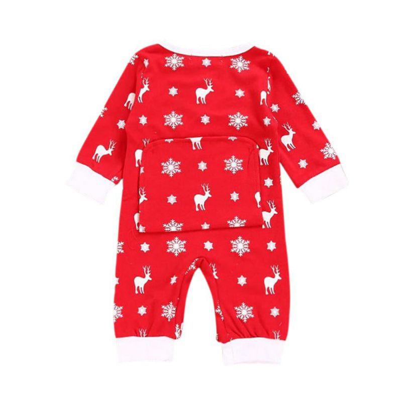 Infant Deer Casual Jumpsuit Rompers Fashion Girl Boy Moose Deer Newborn Christmas Romper Long Sleeve Cotton Clothing Outfit j2