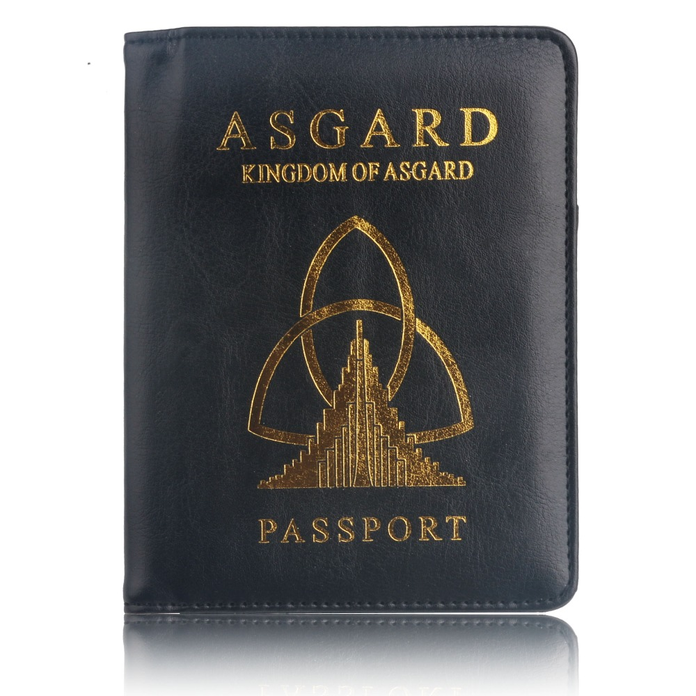 TRASSORY RFID Blocking ASGARD Passport Holder Case Marvels The Avengers Leather Passport Cover for Men WomenTRASSORY RFID Blocking ASGARD Passport Holder Case Marvels The Avengers Leather Passport Cover for Men Women