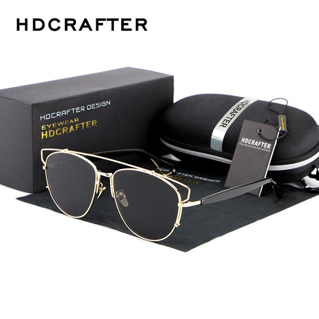 New mulheres liga srand polarizada óculos de sol real new adulto cor revestimento de óculos de sol condução oculos acessórios para 88027
