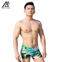 Summer Swim Jammers Man Short Style Boxer Brief Print Spa Pool Bottoms Sportswear Men Profession Swimwear Jammer Life On Track