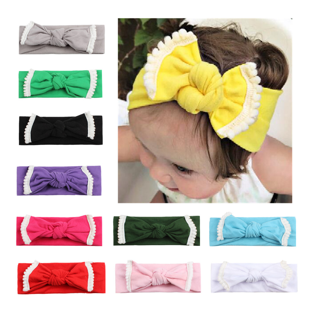 1pc Colorful Baby Infant bow knot Headband QMilch Hair Band Baby Girl bow knot Headband Toddler Hair Accessories Girls 3pcs lot lovely printed floral fabric bow headband striped dots knot elastic nylon hair band for girl children headwear