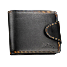 Business casual men's wallet cross section zipper buckle wallet Europe and America van wallet
