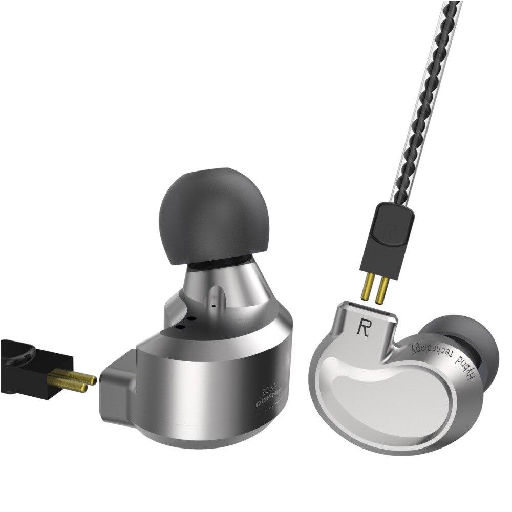 Yinyoo NY-06 2DD + 1BA HIFI DJ moniteur casque hybride dans l'oreille écouteur en cours d'exécution Sport écouteur oreille crochet casque écouteur bonne basse