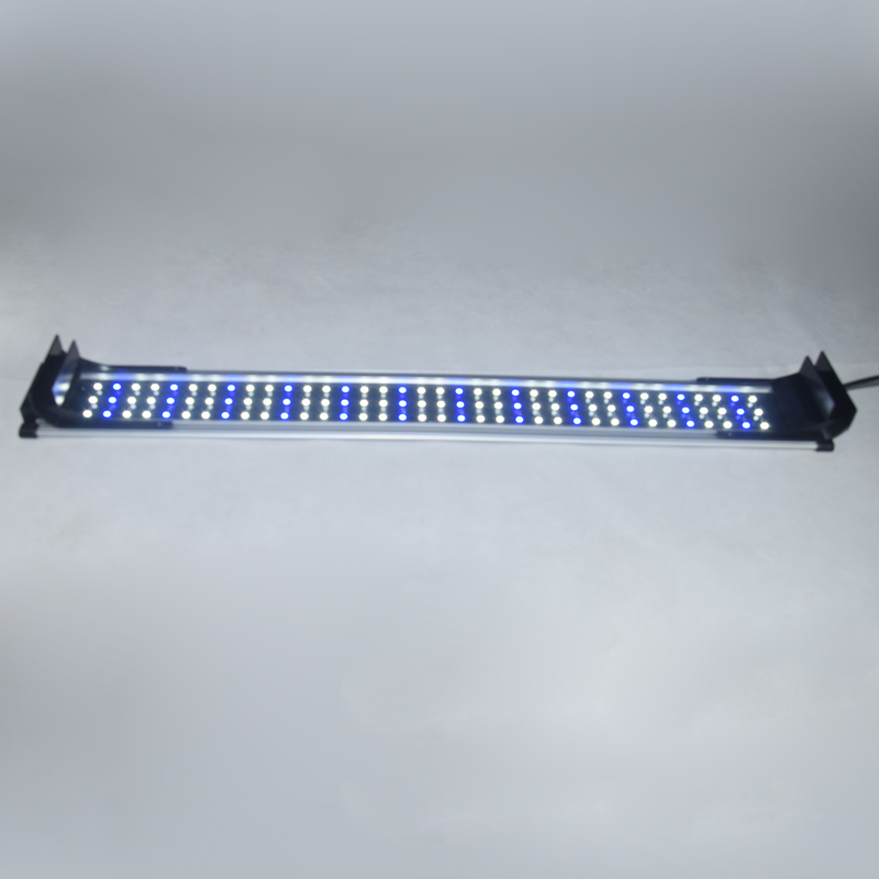 60 80cm 22W Aquarium LED Lighting Fish Tank Light Lamp with Extendable Brackets 72 White and 36 Blue LEDs Fit for Aquarium decro in Lightings from Home Garden