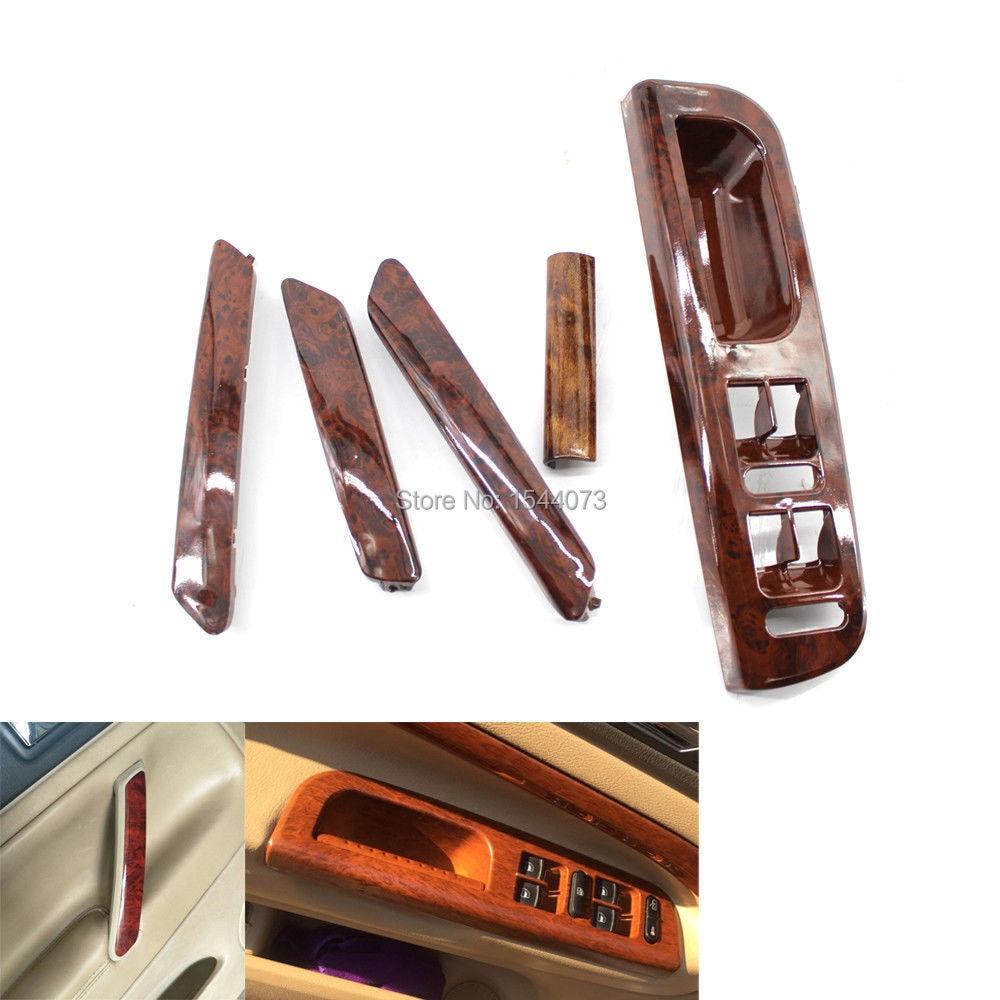 5pieces Wood Color Interior Door Handle Window Switch