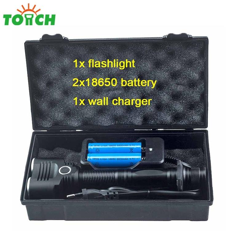 200 meter Long Distance Led Flashlight Cree xml t6*2 Bulbs Handle Lantern 18650 Battery Rechargeable Camping Tent Lamp налобный фонарь hedeli t6 cree xml 3000 18650 ht410c2