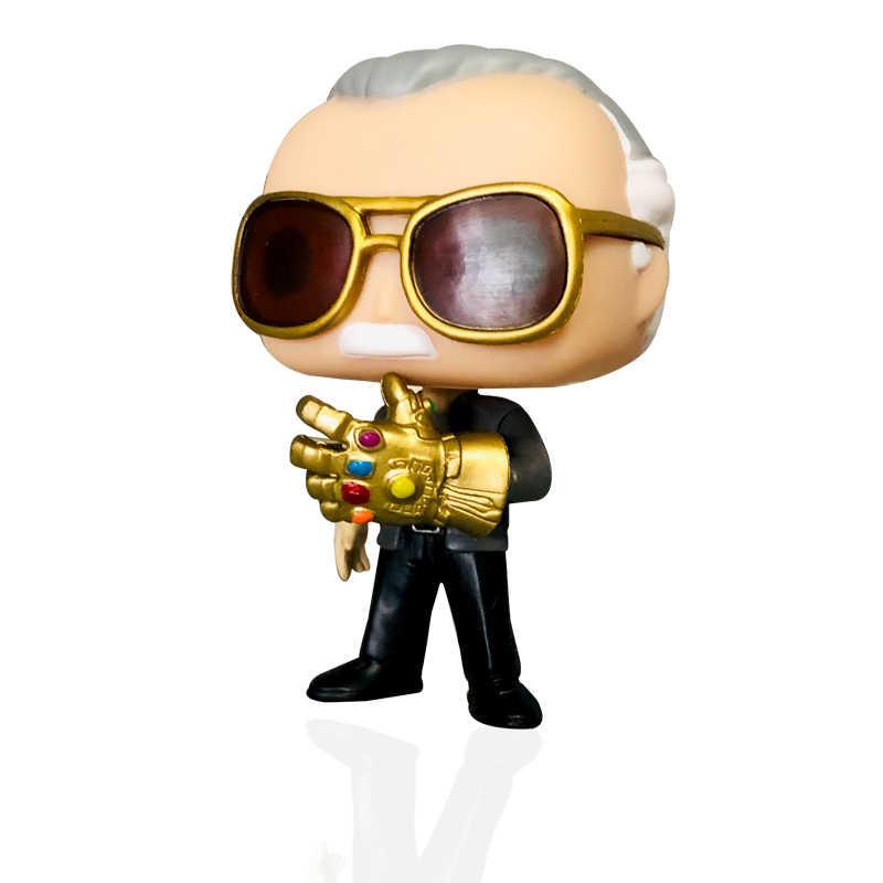 Vingadores MARVEL FUNKO POP NOVO Estilo: Endgame Stan Lee & TERREMOTO Figuras de Ação Colecionáveis Brinquedos para Crianças presente de aniversário