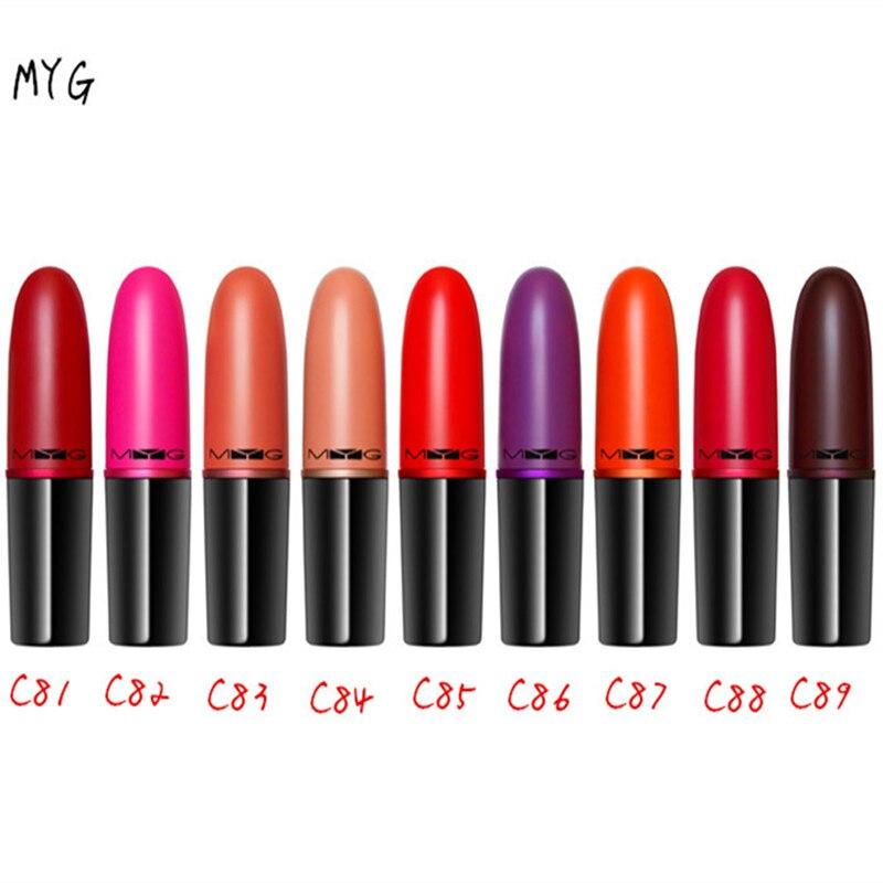 MYG lipstick lips makeup lipstick beauty cosmetics Long-lasting lipstick mate lip stick batom matte lipstick