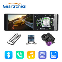 4012B 4.1 inch 1 Din Car Radio Auto Audio Stereo FM Bluetooth With Rear View Camera USB Steering Wheel Remote Control autoradio