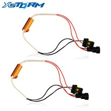 2PCS H4 H7 H8 H11 9005 HB3 9006 HB4 LED Bulb Decoder Resistor 50w Canbus Error Canceller Wire Harness Adapter for Car Fog Light(China)
