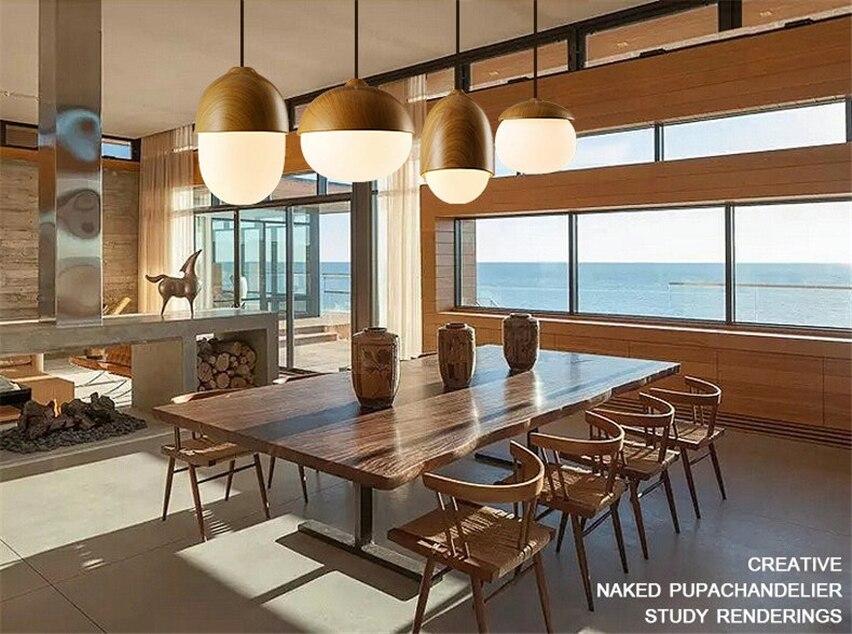 Jw moderne helling hout glas hanglampen lampen restaurant bar