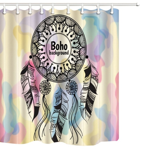 Dream Catcher Waterproof Mildew Polyester Bathroom Partition Curtain Shower Creative 3D Printing