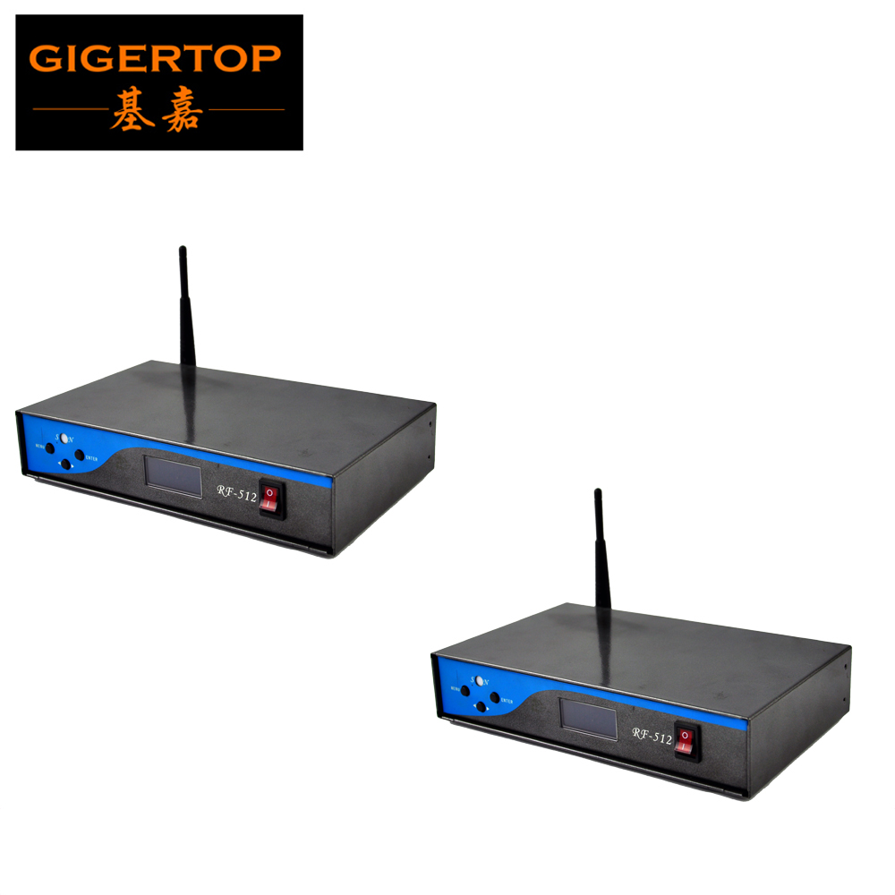 Freeshipping 2 Pack Wireless Remote Control 2.4G Stage Light DMX Controller Gymnasium light control Remote stage performance