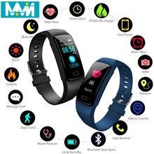 купить Smart Band Y9 Heart Rate Blood Pressure Monitor High Brightness Colorful Screen Smart Bracelet Wristband Notification дешево