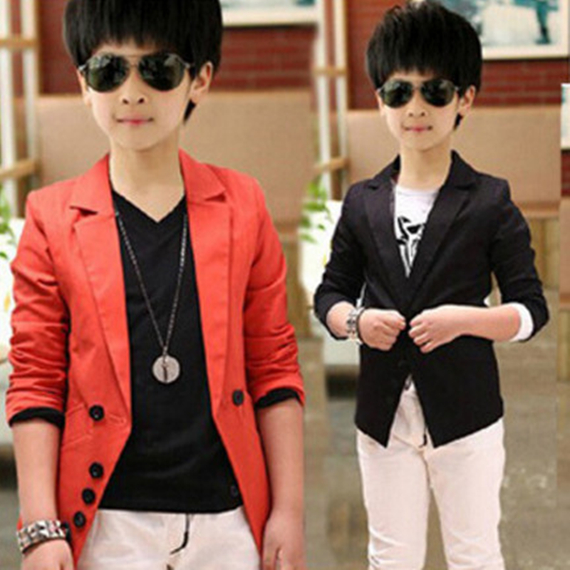 Kids Blazers For Boys Wedding Formal Suits Brand Letter Children Jackets And Coats Casual Spring Boy Outerwear 4 6 8 10 12 Years
