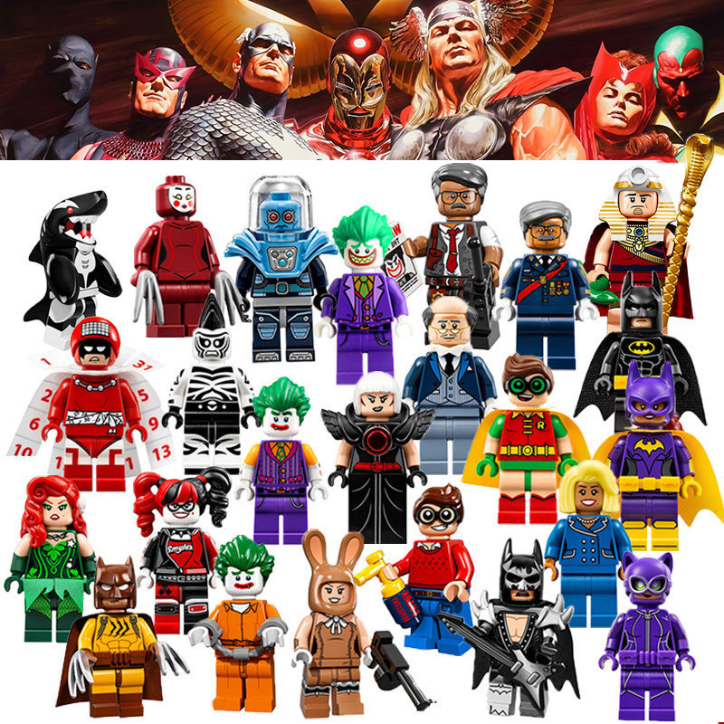 1pc Super Heroes Catwoman Robin Joker Batman Movie Figures Poison Harley Quinn Building Blocks Compatible With LegoINGly Batman