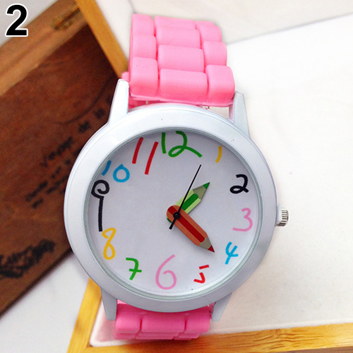 Fashion Unisex Student Watch Silicone Strap Analog Quartz Wrist Watch Xmas Children Brand Girls Boy Sport Clock Cute Cartoon