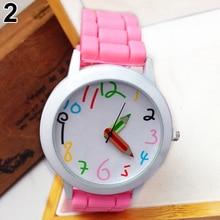 Fashion Unisex Student watch Silicone Strap Analog Quartz Wrist Watch Xmas Children Brand Girls Boy Sport Clock Cute cartoon