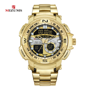Image 5 - Relogio Masculino 2019 Gouden Horloge Mannen Luxe Merk Golden Militaire Mannelijke Horloge Waterdicht Rvs Digitale Horloge 2019