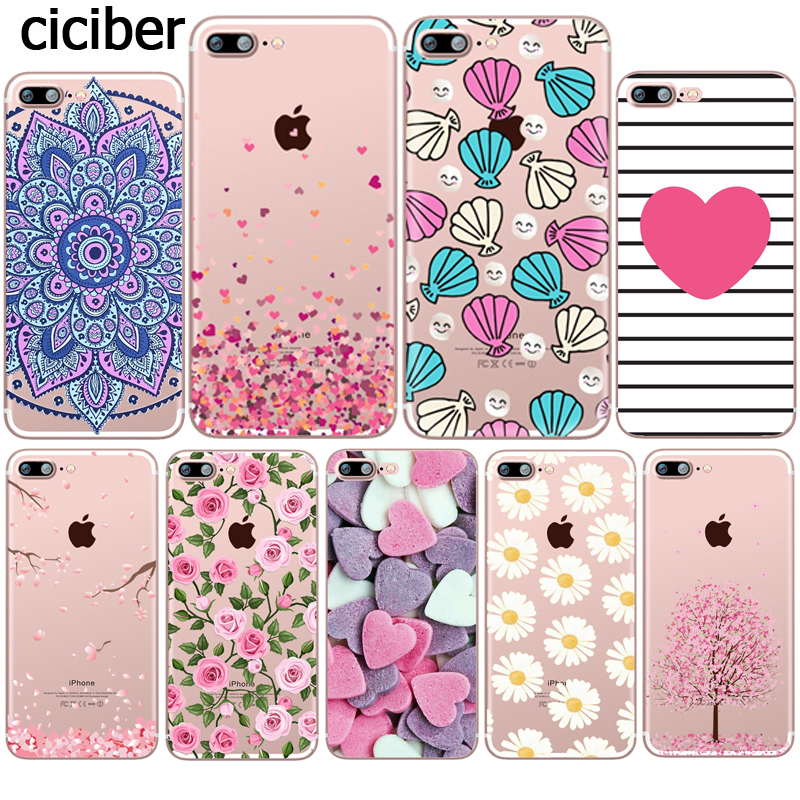 Flower Love Cherry phone Case for iphone 11 Pro XS Max X Cases XR 7 8 6 6S PLUS 5S SE Rose Cover Silicone Coque Funda