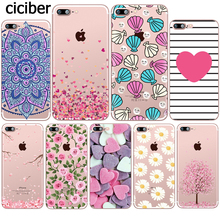 Flower Love Cherry phone Case for iphone 11 Pro XS Max X Cases for iphone XR 7 8 6 6S PLUS 5S SE Rose Cover Silicone Coque Funda 3d cherry ice cream silicone case mobile accessory for iphone se 5s 5 rose