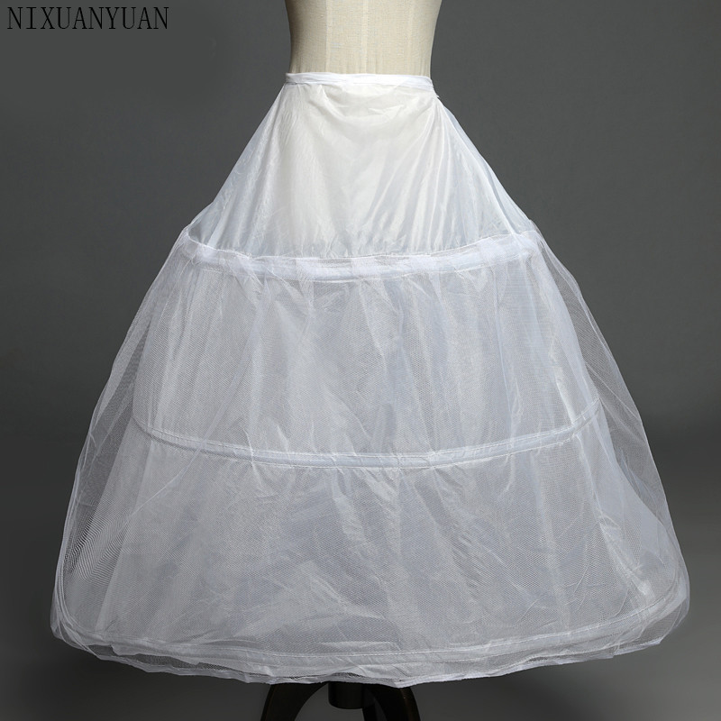 In Stock 3 Hoops Petticoats for wedding dress Wedding Accessories Free Shipping Crinoline Cheap Underskirt For Ball Gown 2019