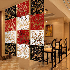 10pcs Hollow Hanging Screen Room Divider Home Decoration Living Stickers 3 Color Curtain Hollow-Out Butterfly Flower Partition