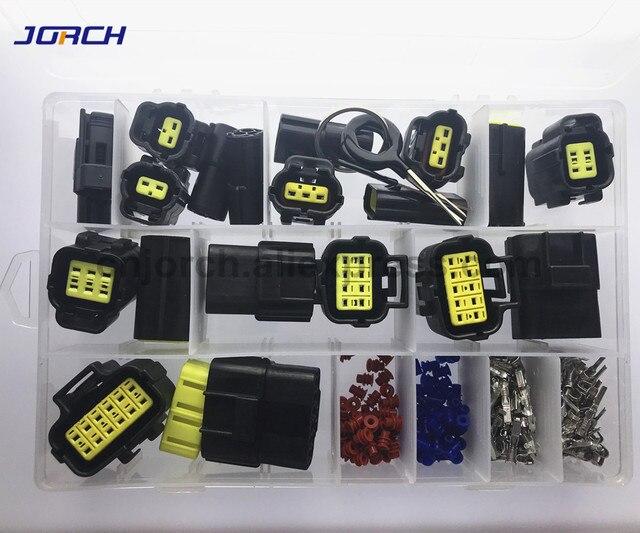 226 sztuk 1.8mm amp tyco wodoodporna wtyczka złącze przewodu elektrycznego zestawy zestawy z złącze zaciskowe i uszczelki gumowe