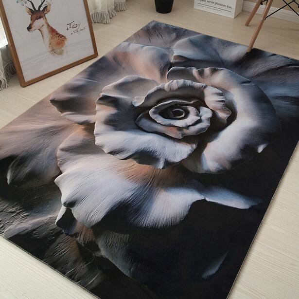 3D nordique Art abstrait Super doux flanelle tapis pour salon thé tapis chambre tapis tapis de jeu tapis anti-dérapant couverture