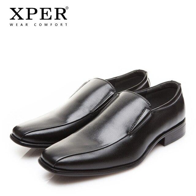 2018 XPER модные брендовые Мужские модельные туфли Для мужчин удобные Бизнес обувь без застежки свадебные туфли Демисезонный официальная обувь XYWD8630
