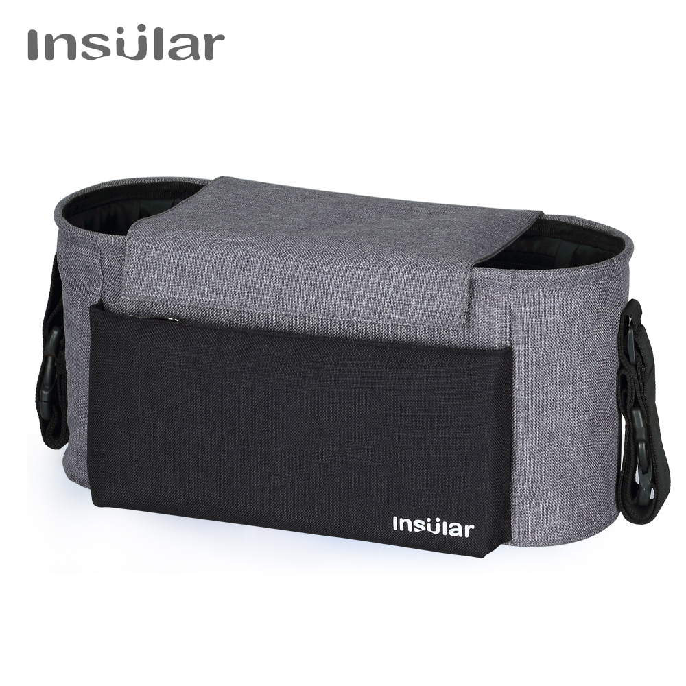 Insular Brand 600D Nylon Fashion Multi-functional Diaper bag Mommy Organizer Bag Baby Stroller Hanging Bag Storage