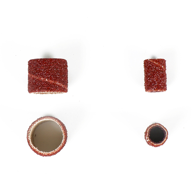 Outils rotatifs Dutoofree accessoire de forage 15 pièces bande de ponçage 6.35mm ponceuse à tambour accessoires Dremel convient pour outils de forage Dremel