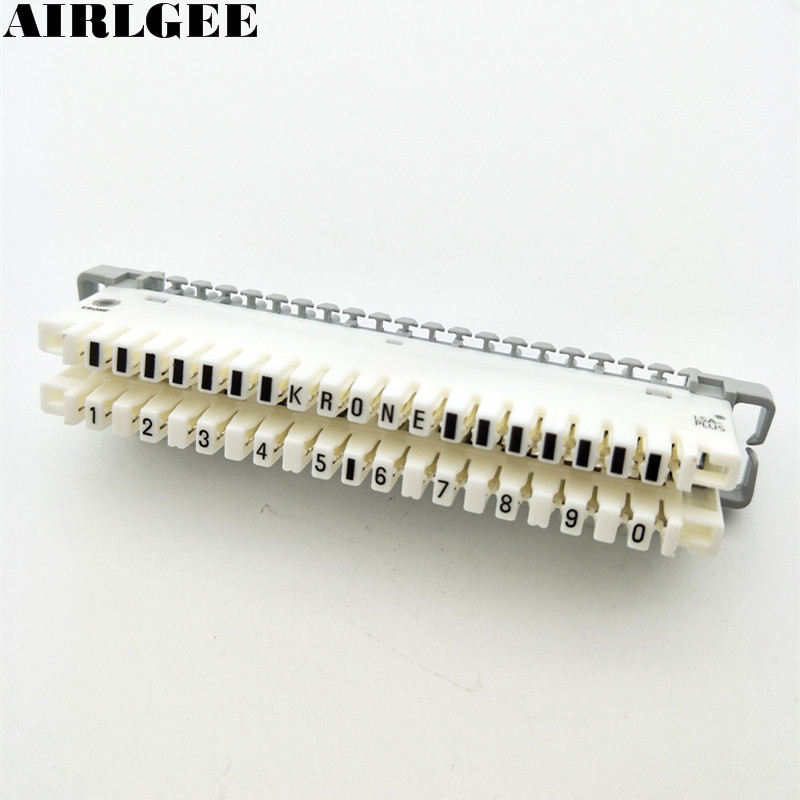 White 10 Positions Dual Row Telecom Phone Line Cable Terminal Blocks Free shipping