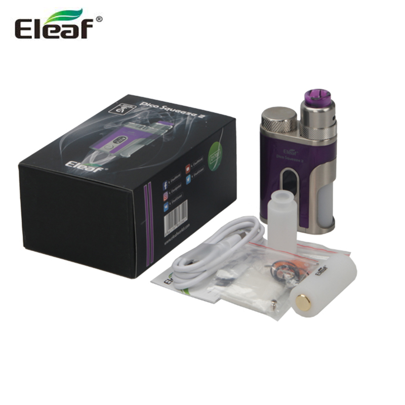 Original Eleaf Squeeze 2 with Coral 2 Kit 8ml Squonk Bottle 100W Squeeze 2 Box MOD E Cigarette Kit