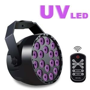 Image 1 - 54 w LED Par 18LED UV סגול LED שלב אור נקוב אור עם DMX512 עבור דיסקו DJ מקרן מכונה המפלגה קישוט שלב תאורה