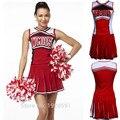 2016 New High School Cheer Musical Glee Baseball Cheerleader Costumes Outfit Fancy Dress S-XL
