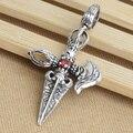 Handcrafted 925 Silver Tibetan Dorje Knife Pendant vintage sterling silver Dorje Pendant Buddhist Dorje Knife Amulet