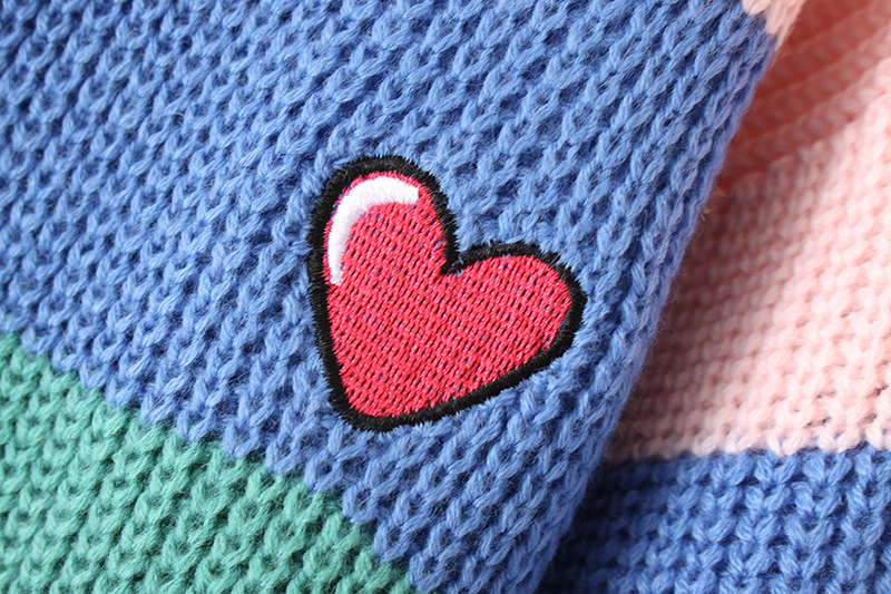 Danjeaner V Neck Single Breasted Knitted Cardigans Women Harajuku Rainbow Stripes Letter Long Sleeve Sweaters Streetwear Jumpers 13